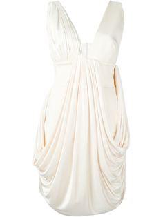платье c V-образным вырезом   Fausto Puglisi