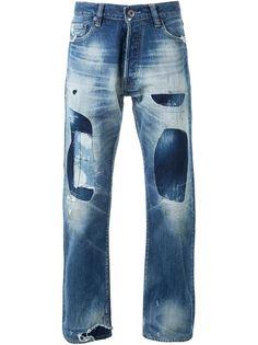 джинсы с заплатками  Simon Miller