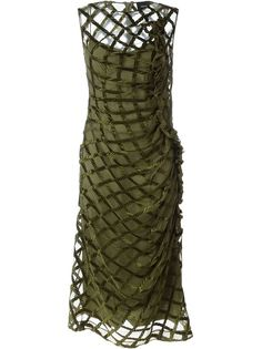платье с сетчатым верхним слоем Simone Rocha