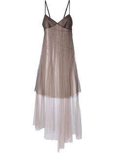 платье со вставкой из тюля  Quetsche