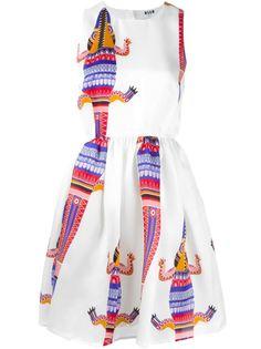 платье с принтом крокодила MSGM