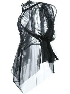 блузка Shortsleeve sheer zip  Rick Owens Lilies
