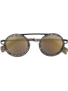 солнцезащитные очки с круглой оправой Yohji Yamamoto