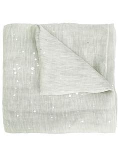 шарф с эффектом брызг краски Fabiana Filippi