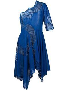 асимметричное платье с вырезными деталями Stella McCartney