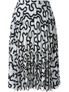 плиссированная юбка с принтом JW Anderson