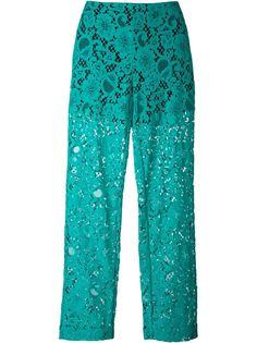 полупрозрачные кружевные брюки MSGM