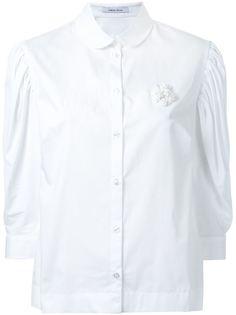 плиссированная рубашка с буффами на рукавах Simone Rocha