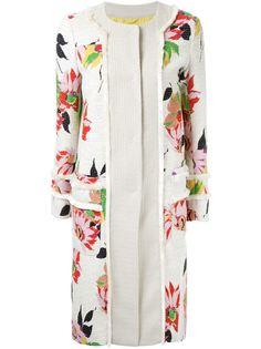 пальто с цветочным принтом Etro