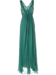 длинное платье с кружевной отделкой Alberta Ferretti