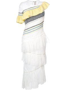 платье с оборками Peter Pilotto