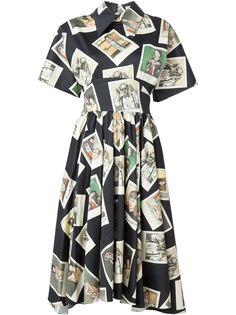платье Kawabata araki  с принтом фотокарточек  Olympia Le-Tan