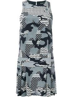 платье с камуфляжным принтом Neil Barrett