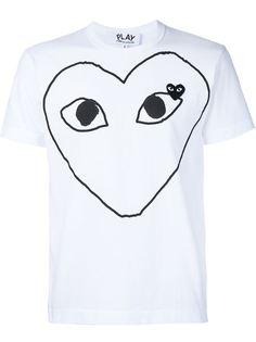 футболка с аппликацией и принтом сердца Comme Des Garçons Play