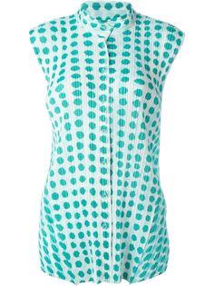 плиссированная рубашка  с принтом  Pleats Please By Issey Miyake