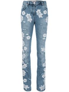 кружевные джинсы  Blumarine