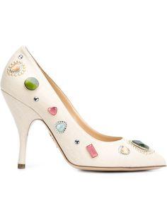 декорированные туфли Etta Charlotte Olympia