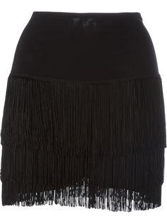 короткая юбка с бахромой Norma Kamali