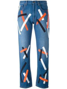 джинсы с принтом  Christopher Kane