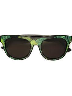 солнцезащитные очки с тропическим принтом Diesel