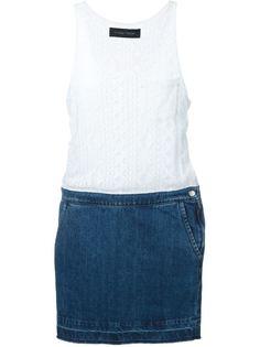 платье с джинсовое юбкой  Christian Pellizzari