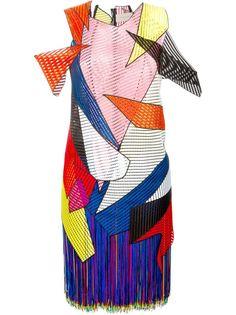 платье с геометрическими панелями Christopher Kane