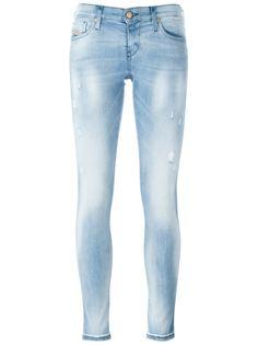 джинсы кроя скинни с потертой отделкой Diesel