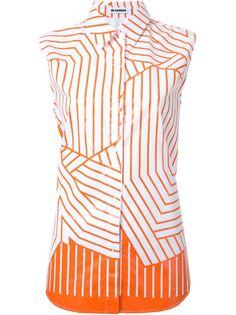 полосатая рубашка без рукавов Jil Sander