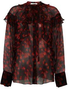 прозрачная рубашка с принтом  Givenchy