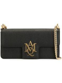 сумка через плечо с бляшкой с логотипом.  Alexander McQueen