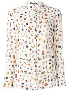 рубашка с принтом Obsession Alexander McQueen