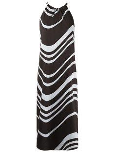платье миди с волнистым принтом Andrea Marques