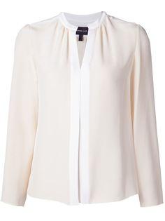 блузка с плиссированной панелью Derek Lam