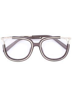 очки с металлической отделкой Chloé Eyewear