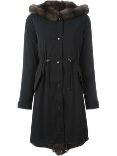пальто с присборенной отделкой Liska