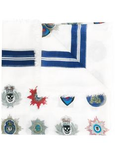 шарф с комбинированным принтом Alexander McQueen