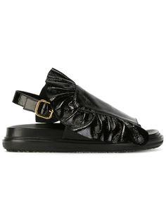 сандалии с рюшами Marni