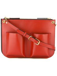 сумка на плечо с накладными карманами Marni