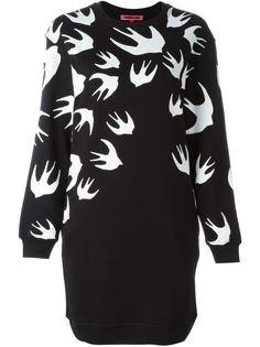 платье-толстовка с принтом Swallow McQ Alexander McQueen