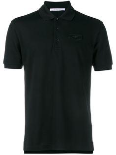 свободная футболка-поло с кожаной нашивкой Givenchy