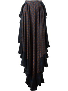 асимметричная юбка с оборками Lanvin