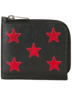 кошелек с аппликациями-звездами Saint Laurent