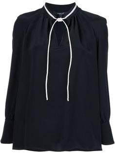 блузка с завязками на горловине Derek Lam
