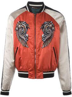 куртка-бомбер с вышивкой Pegasus Roberto Cavalli