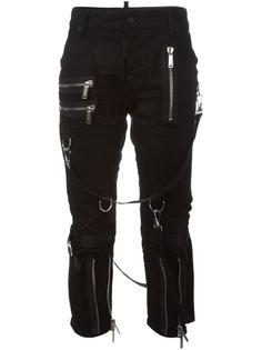 декорированные молниями джинсы Icon Dsquared2