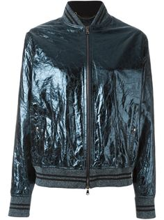 куртка бомбер с эффектом помятости Diesel Black Gold