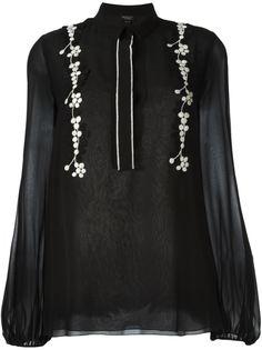 блузка с цветочной вышивкой Giambattista Valli