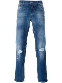 джинсы с рваными деталями   Dolce & Gabbana