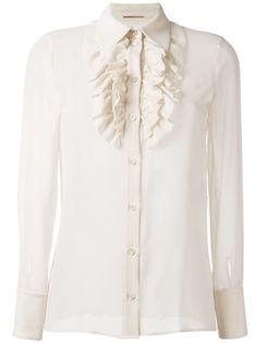рубашка с оборками  Saint Laurent