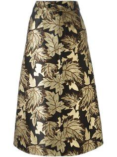 юбка с цветочной вышивкой  Saint Laurent